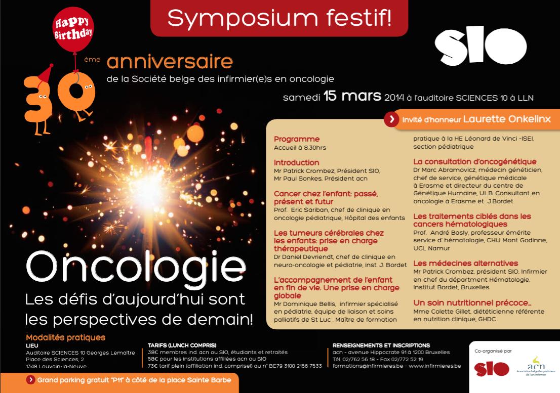 30ème Symposium en Oncologie
